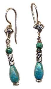 Chrysocolla Earring