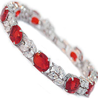 gold s red white is ruby itm cubic wedding loading bracelet zirconia plated image tennis gift